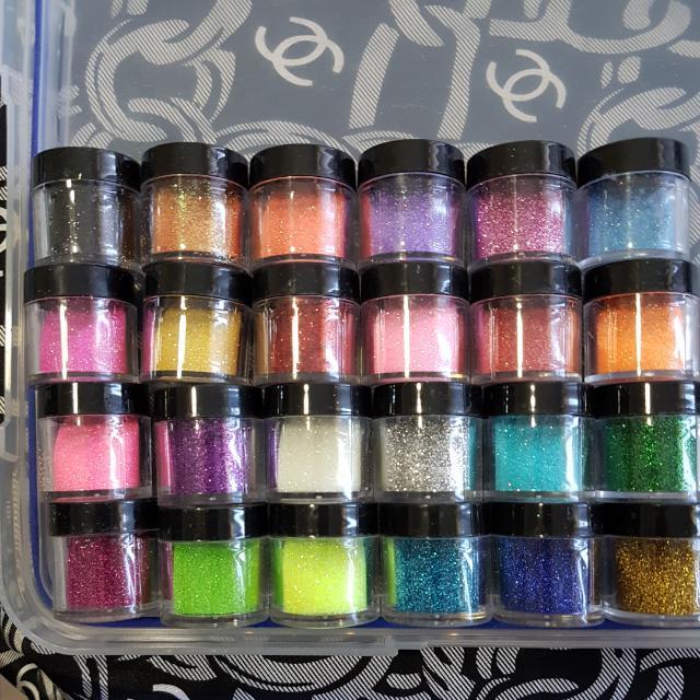 24 Nail Art Glitters