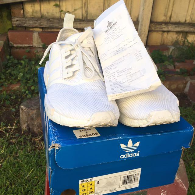 Adidas NMD Triple White Size US9.5
