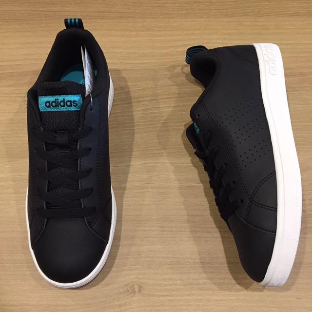 adidas VS ADVANTAGE CL W 皮 黑 板鞋 休閒鞋 全新 保證正品