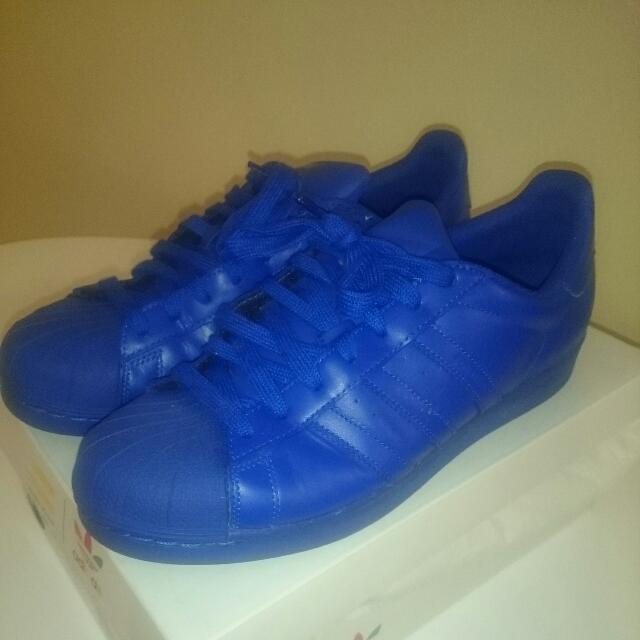 Adidas X Pharrell Superstar Supercolor Electric Blue