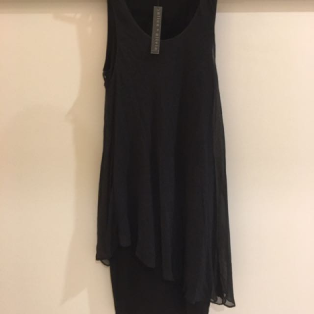Alice And Olivia Black Bodycon Dress
