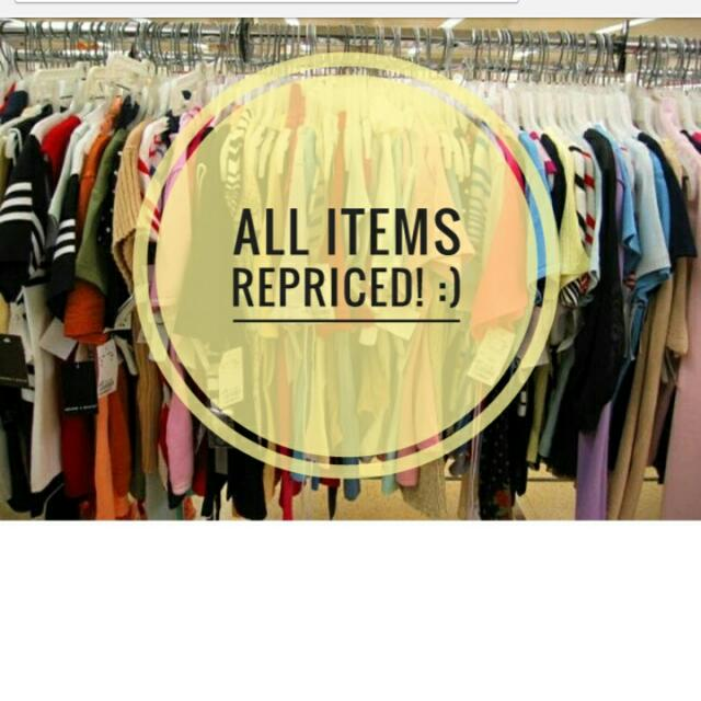 All items repriced!!!