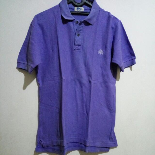 Asics Violet Polo  (Made In Japan)
