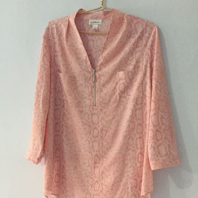 Atasan Jaclyn Smith Pink XL