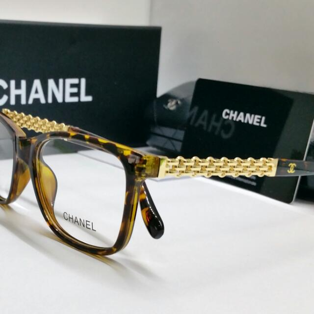 Authentic CHANEL new Spectacle Glasses Turtle Shell Blink