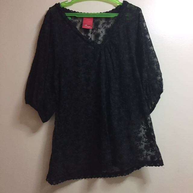 Bayo Black Lace Long Sleeves