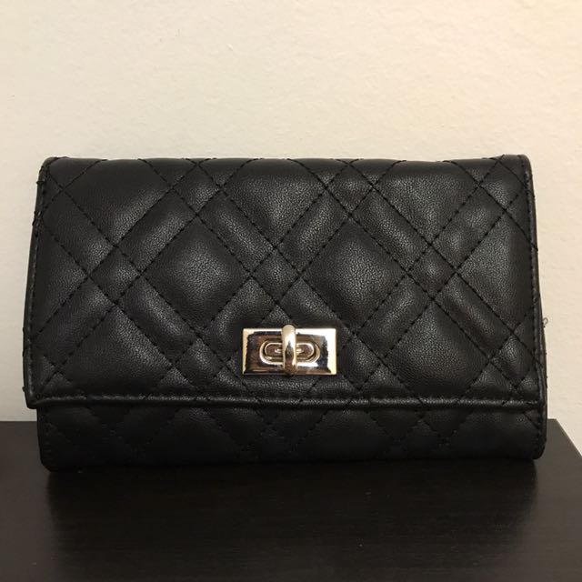 Black Quilted Crossbody/Clutch