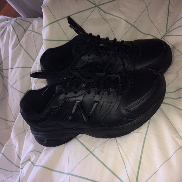 BRAND NEW New Balance Black Leather Shoes