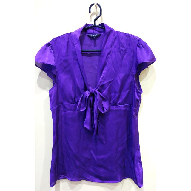 (Brand: Papaya) Silky Violet Top ✔