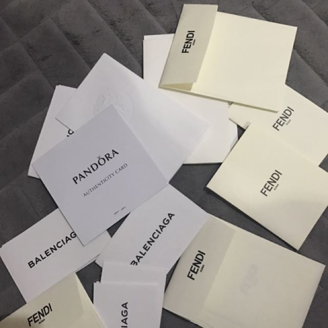 BRANDED AUTHENTIC CARDS