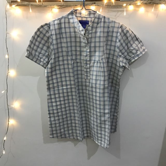 CARINA SWAROVSKI CHECKERED SHIRT