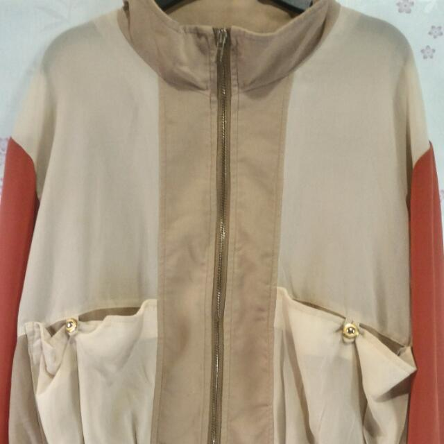 Chiffon Bomber Jacket