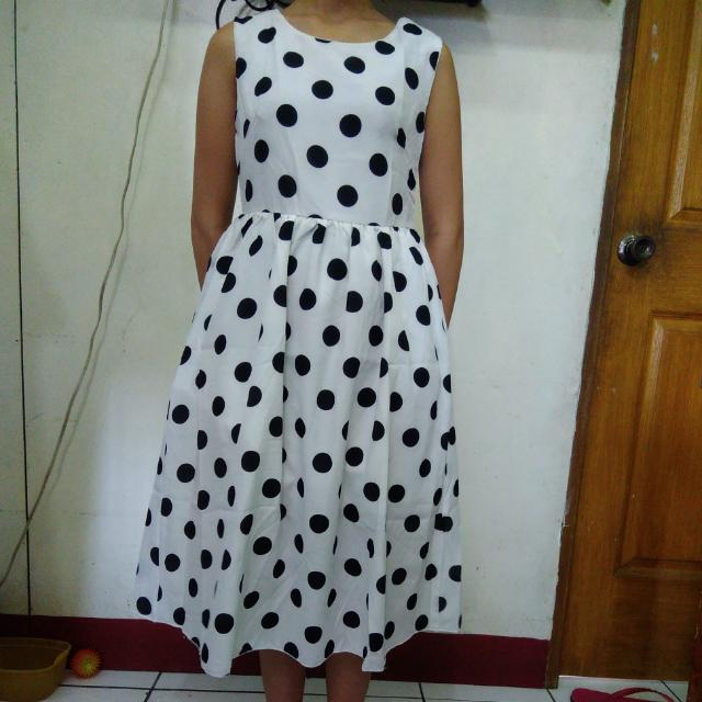 Chiffon Dress Polka