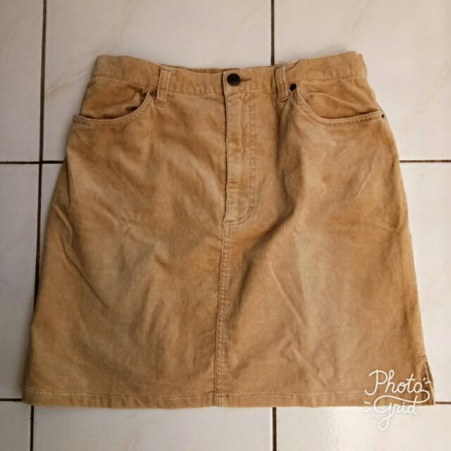 Corduroy Mini Skirt #clearancesale
