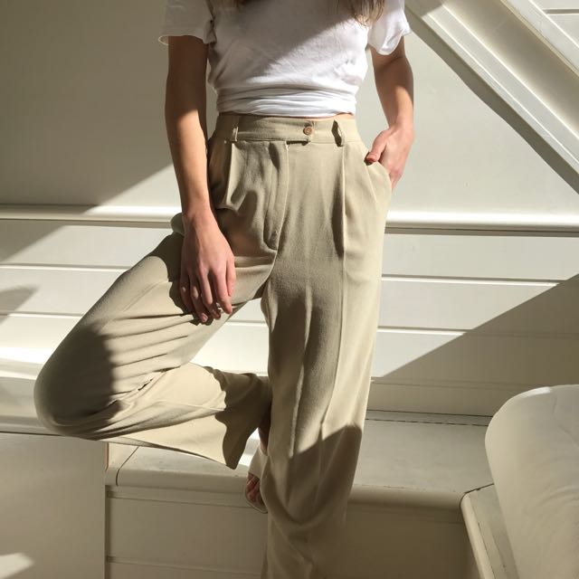 Cream Size 10 Trousers