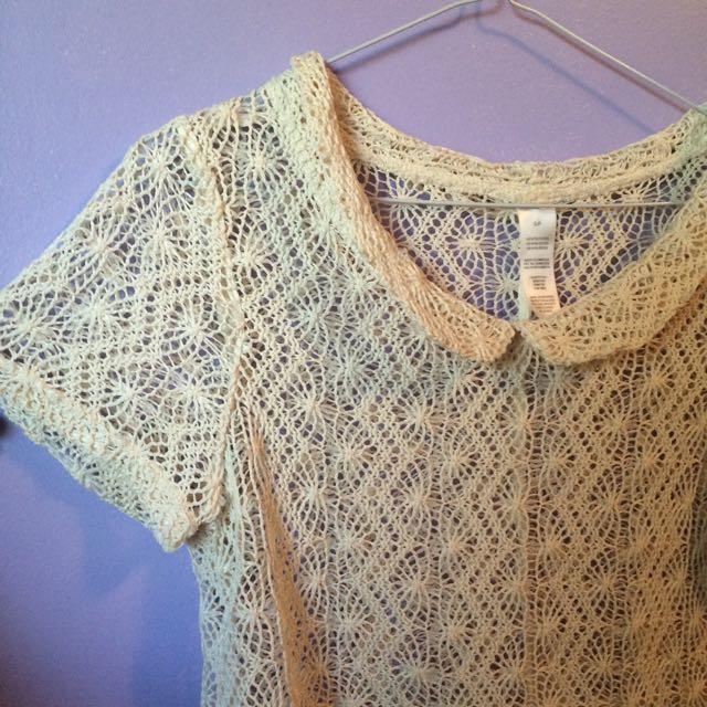 Crochet Peter Pan Collar Top