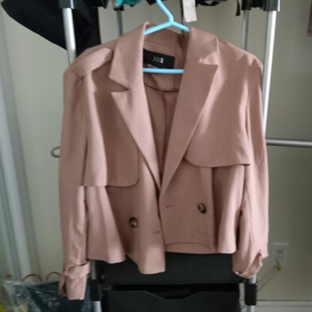 Forever 21 Nude Cropped Blazer (S)