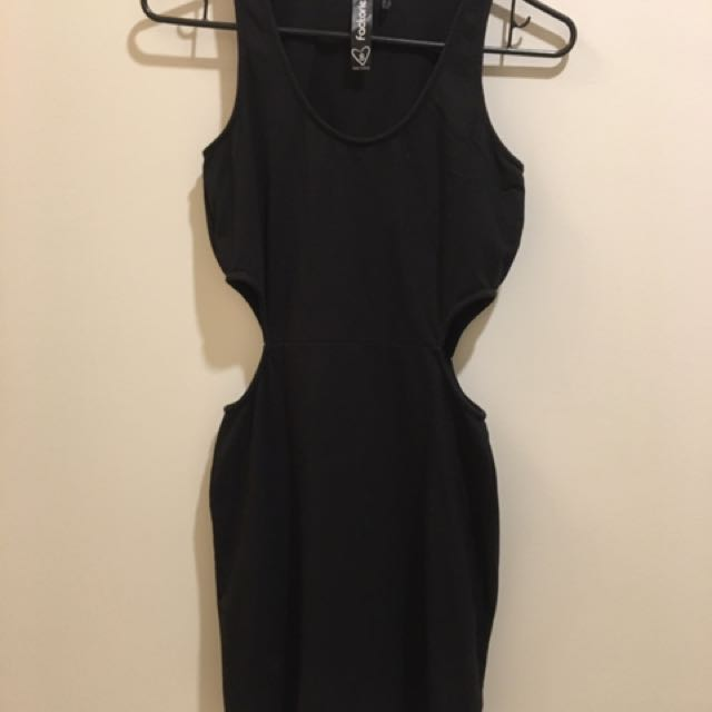 Factorie Black Bodycon Cut Out Dress
