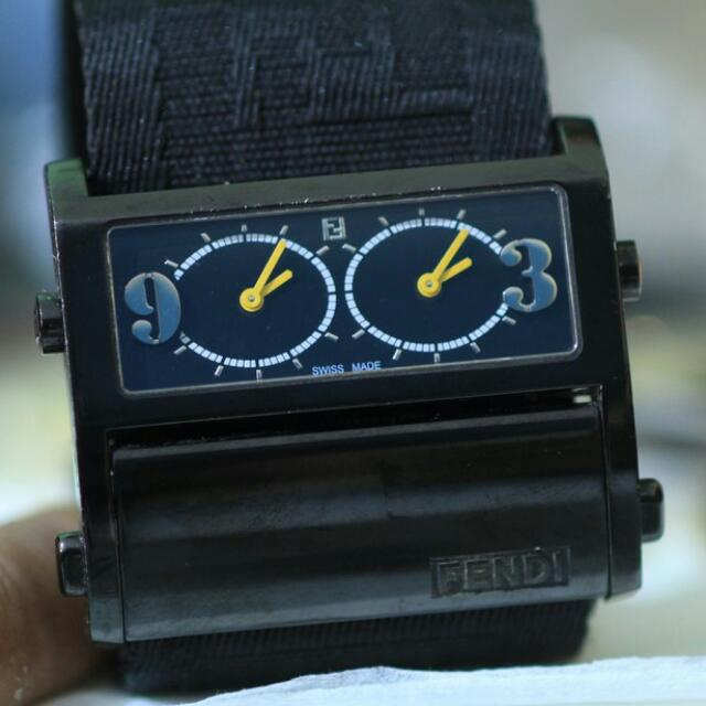 Fendi Men Dual Time Black