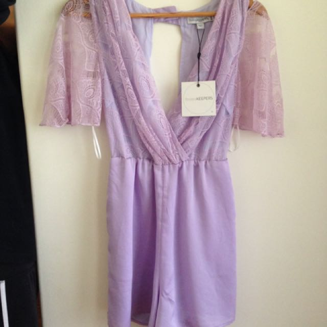 Finders Keepers Lace Jumpsuit Lilac