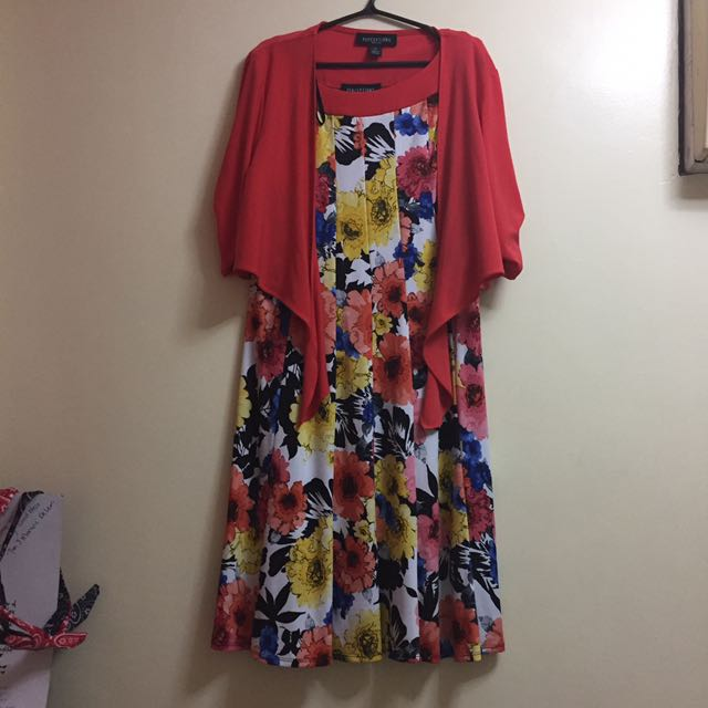 Floral Formal Dress With Bolero