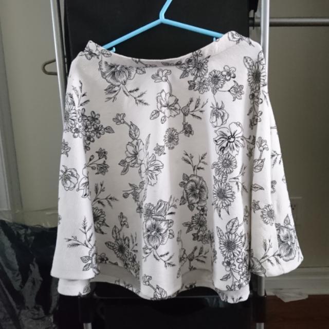 Floral High-waisted Skirt (S)