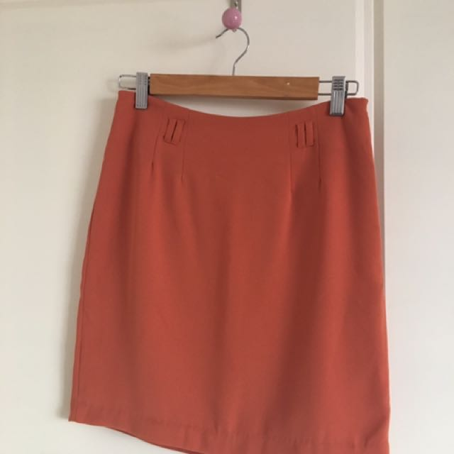 Forever 21 Burnt Orange Mini Skirt-size XS