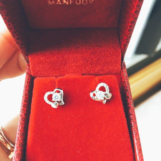 GIA Diamond Earrings 18K Red Gold