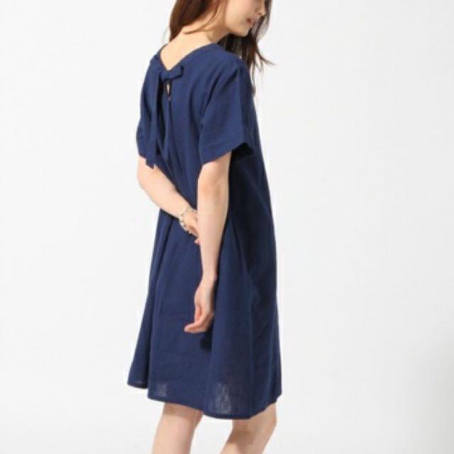 Global Work亞麻藍色洋裝
