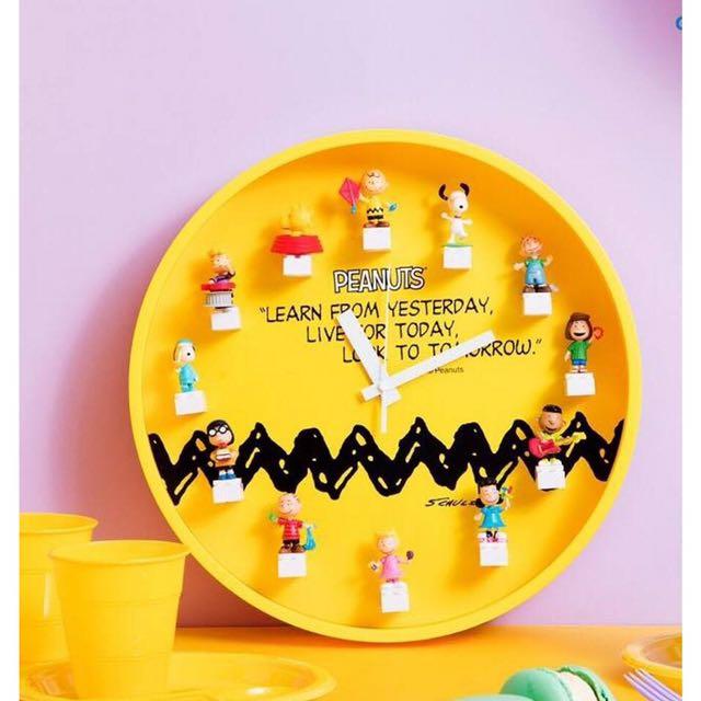 現貨~GS25 X SNOOPY 史努比LEGO 黃色時鐘