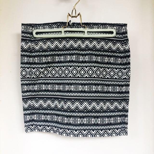 H&M Aztec Print Bandage Skirt