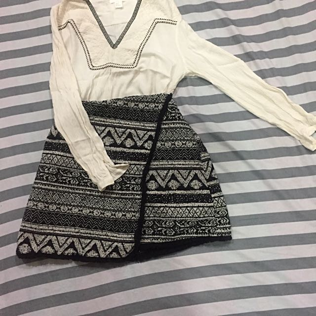 H&M Blouse & Skirt