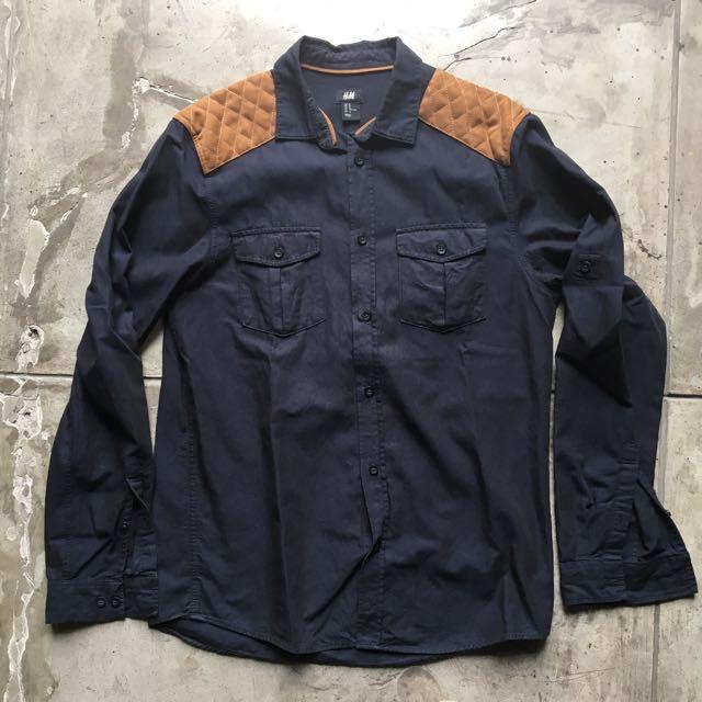 H&M Shoulder Patch Shirt