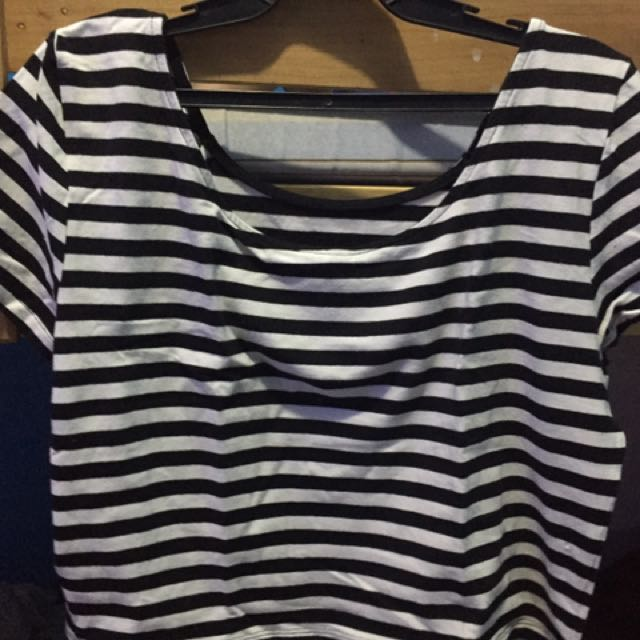 H&M stripes croptop