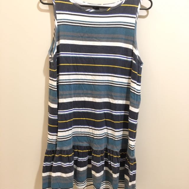 Huffer Blue Yellow Striped Dress