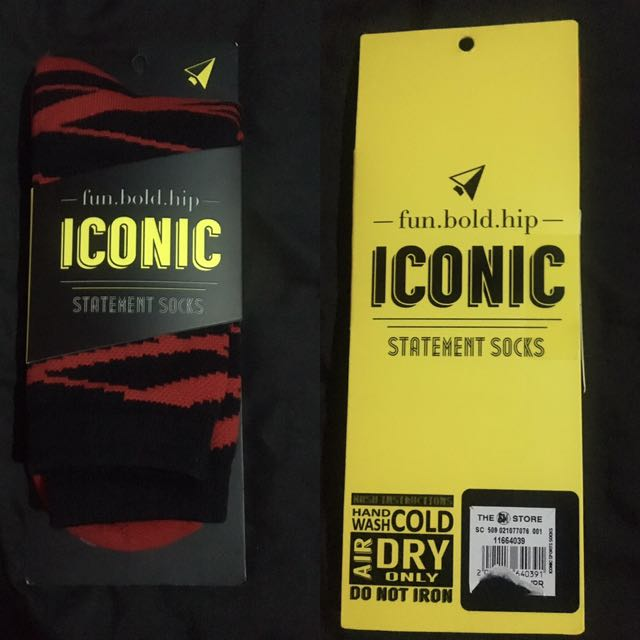 Iconic Socks (Red X Black)