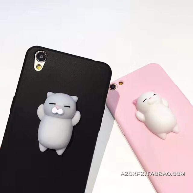 iPhone Cases w Squishy Toys (Plain)