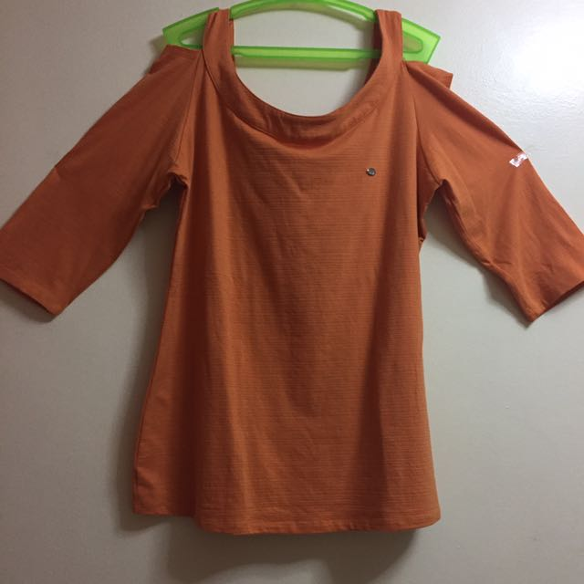 Jag Orange Off Shoulders 3/4
