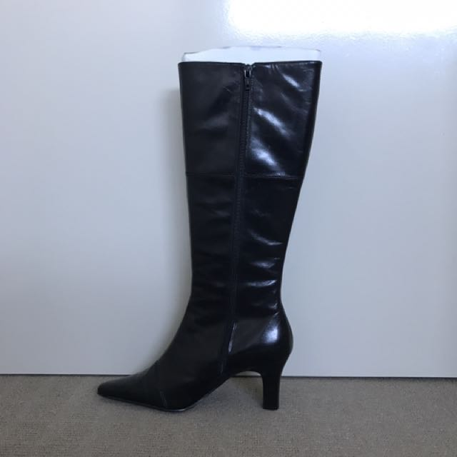 Knee Boots Black Leather