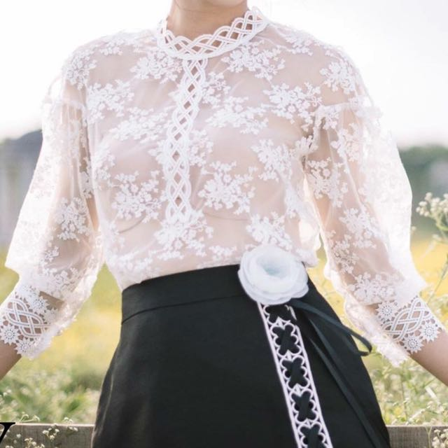 Lace Top And Skirt