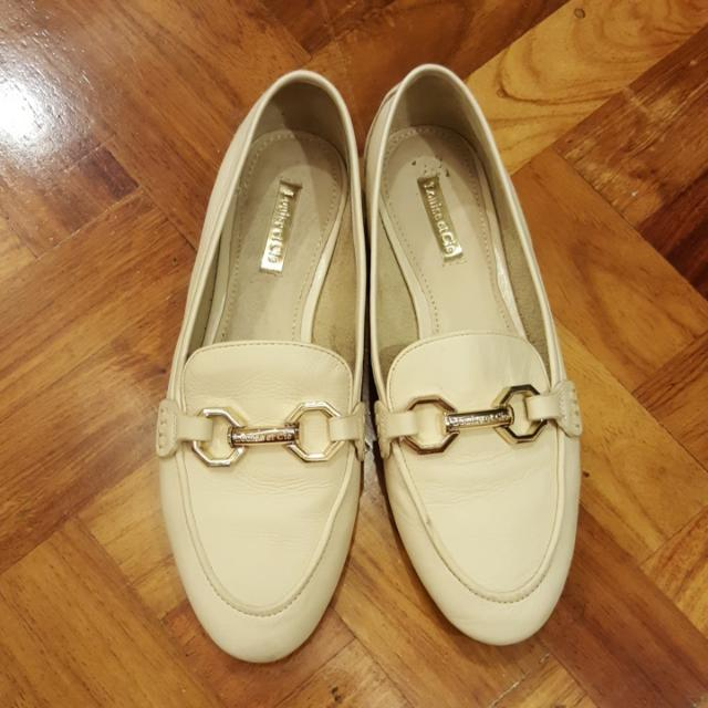 Louise Et Cie Cream Loafers - Real Leather
