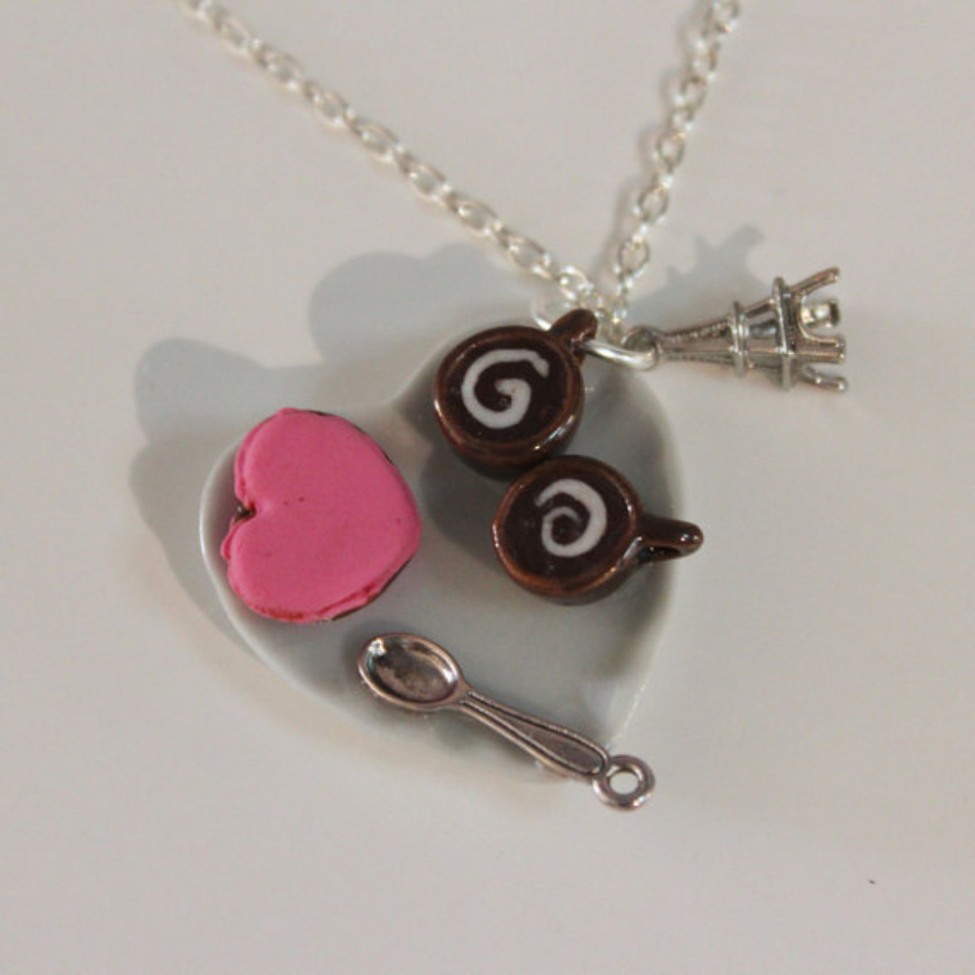 Lovely Coffee Necklace (168)