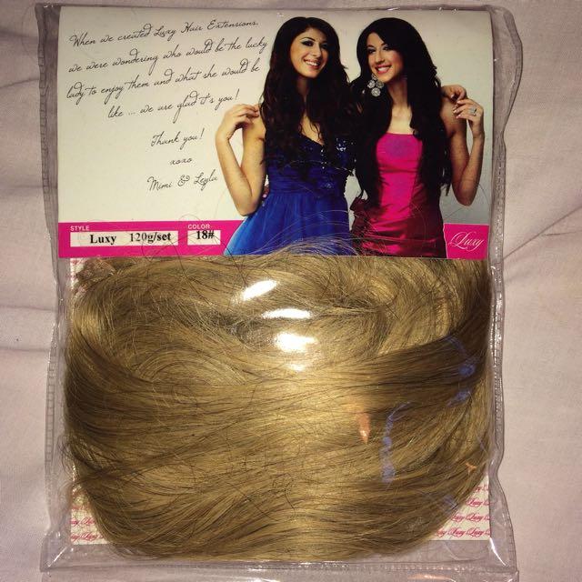Luxy Hair Extensions 120g Set Colour 18 Health Beauty Hair Care