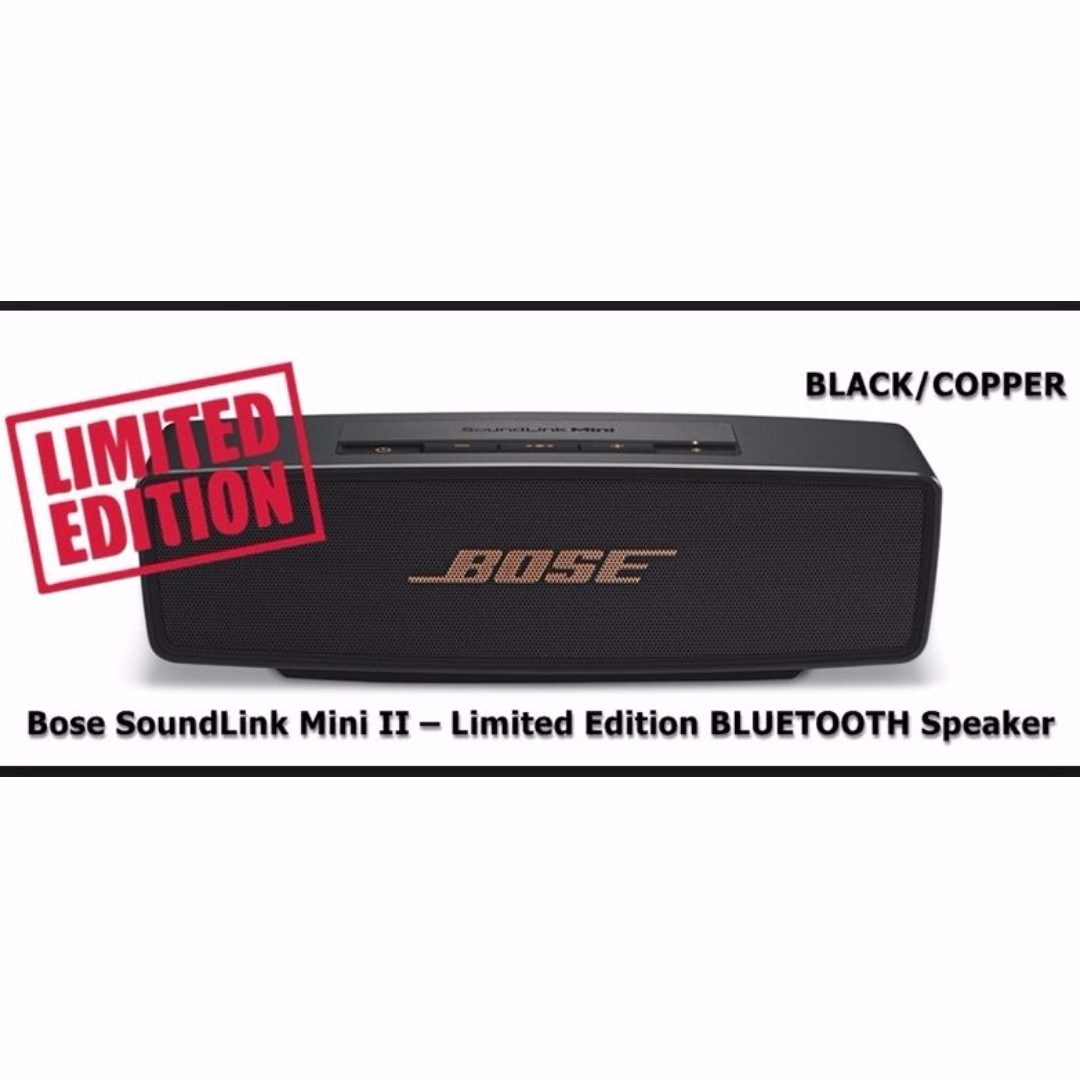 (Made in Mexico) Bose SoundLink Mini II Bluetooth Speaker - Limited Edition  (BLACK) d167f88dd592c