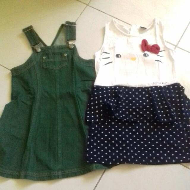 Maong Jumper And Cutie Cat Dress