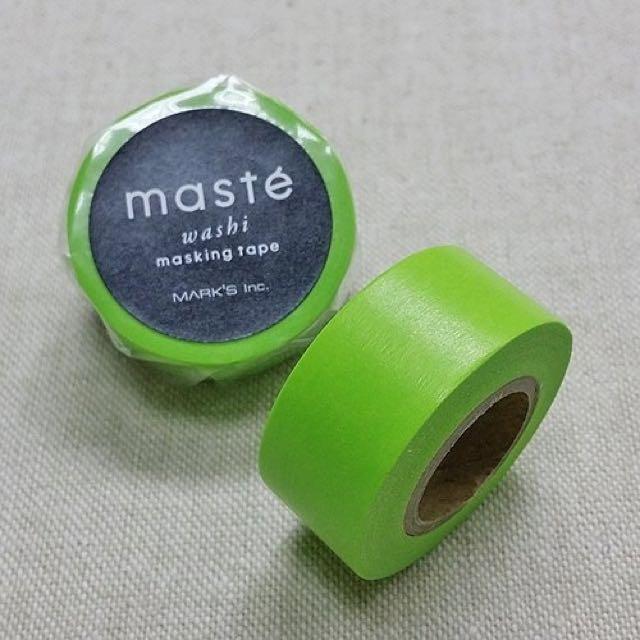 [降價]Maste mt 紙膠帶 限定色 素色 單色 蘋果亮綠