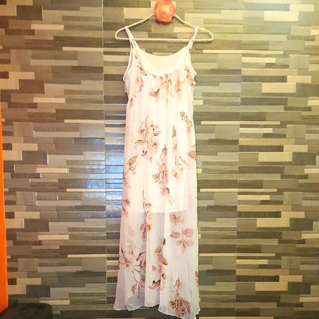 Maxi Dress With Inner White Sleeveless (Cotton On)