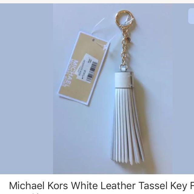 Micheal kors tassle leather keychain