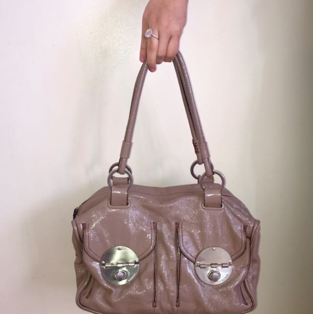 Mimco Turnlock Handbag In 'mocha'