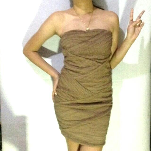 Mocha Tube Dress (Free Size)